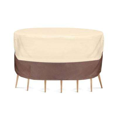 Armor Shield Patio Table and Chair Set Cover-Fits Round Table and Up to 6-Chairs (Up to 94 in. Dia x 23 in. H)