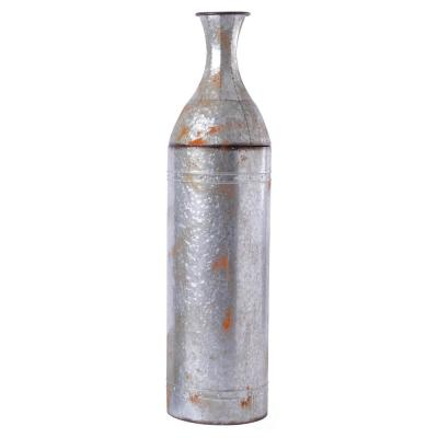43 in. Large Rustic Farmhouse Style Galvanized Metal Floor Vase Decoration
