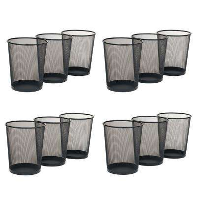 6 Gal. Black Mesh Trash Can (12-Pack)
