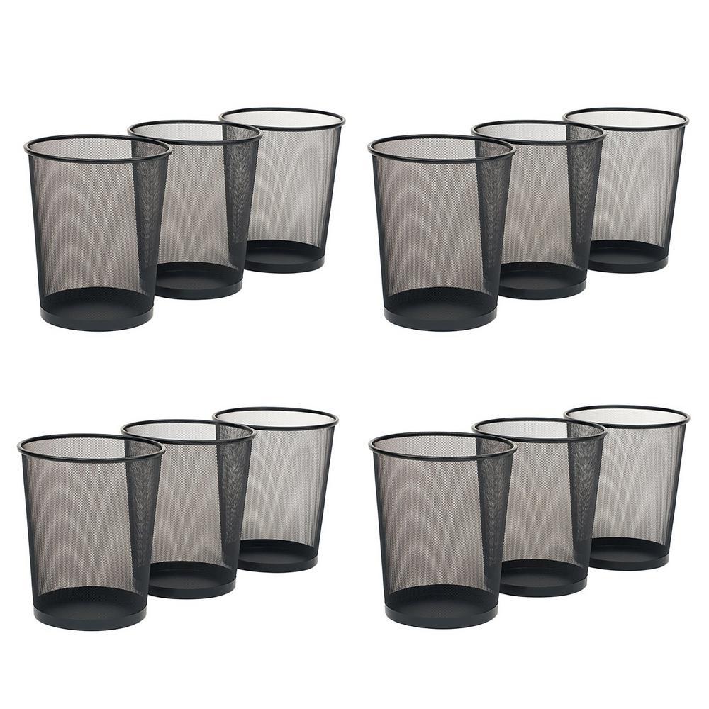 6 Gal. Black Mesh Trash Can (12-Pack)