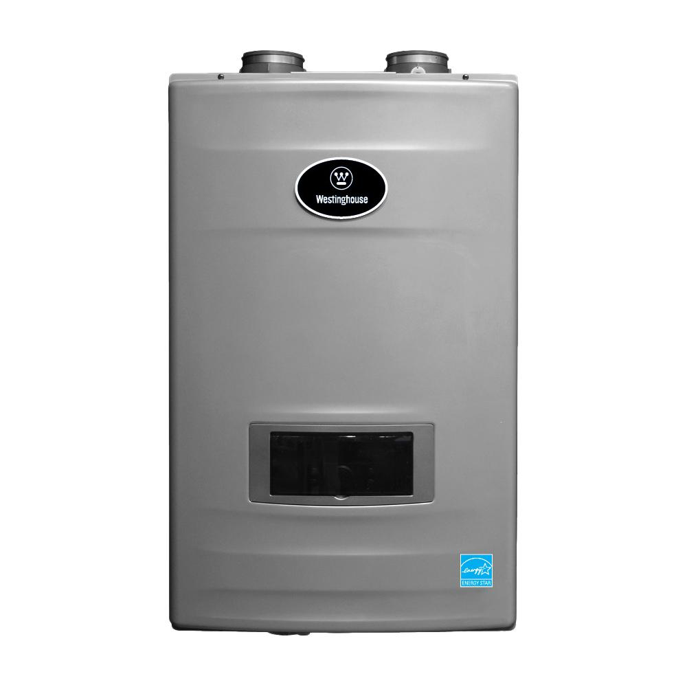 Westinghouse 8.2 GPM High Efficiency Natural Gas Tankless Water Heater with Built-In Recirculation and Pump