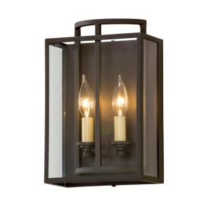 Maddox 2 Light Textured Bronze Wall Mount Sconce