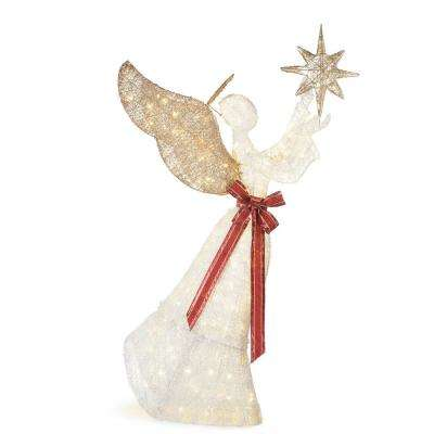 70 in. 210-Light LED PVC Angel and Star