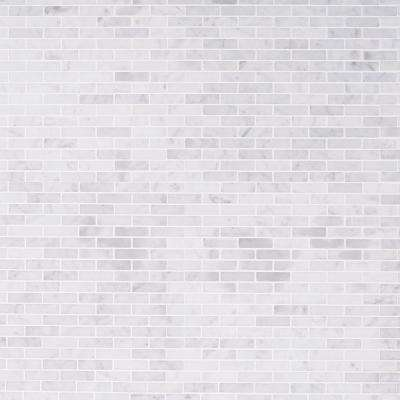 White Carrera 12 in. x 12 in. x 8 mm Marble Floor and Wall Tile