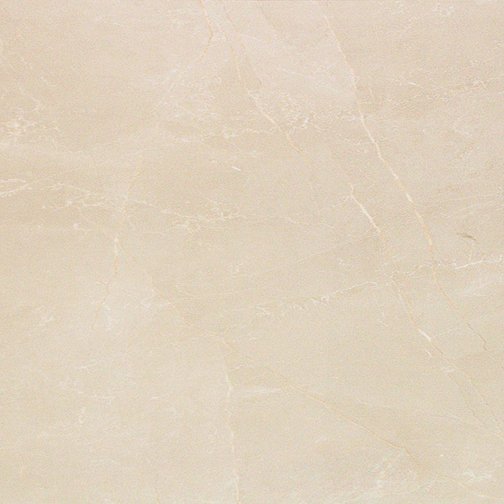 PORCELANOSA Marmol Nilo 18 in. x 18 in. Marfil Ceramic Floor and Wall Tile (10.76 sq. ft. / case)