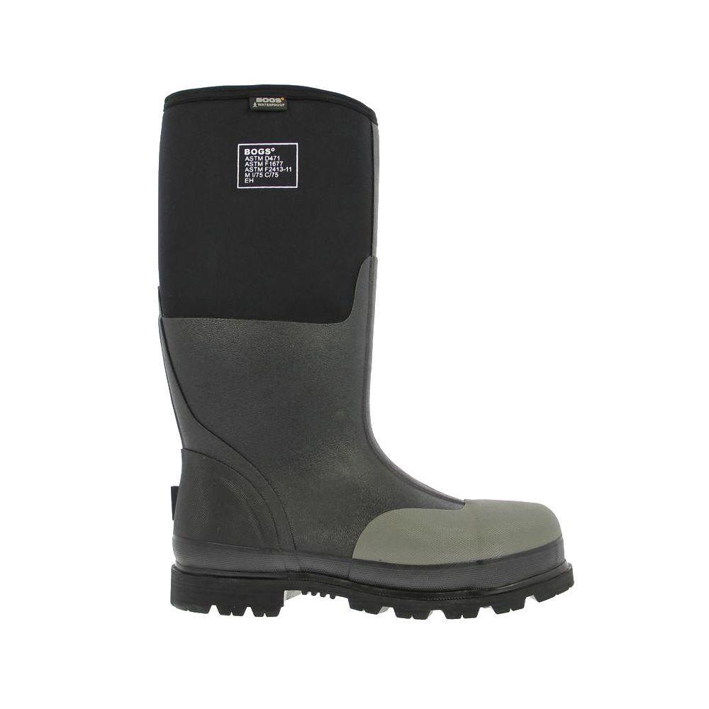 239fbc3ddea Forge Steel Toe Men 16 in. Size 6 Black Waterproof Rubber with Neoprene Boot