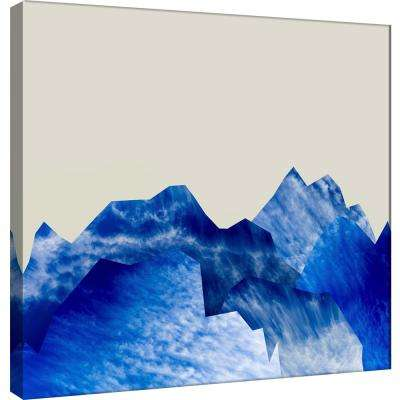 15.in x 15.in ''Mountain Cutouts on Tan A'' Printed Canvas Wall Art