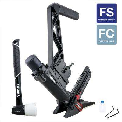 Pneumatic 3-in-1 15.5 and 16 Gauge 2 in. Flooring Nailer and Stapler with Quick Jam Release