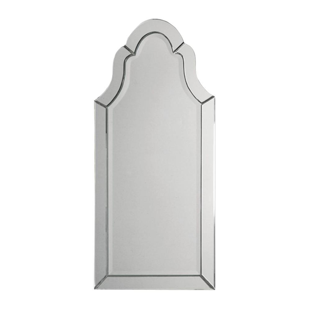 Home Decorators Collection 43.5 in. x 20.5 in. Polished Edge Arch Top Mirror