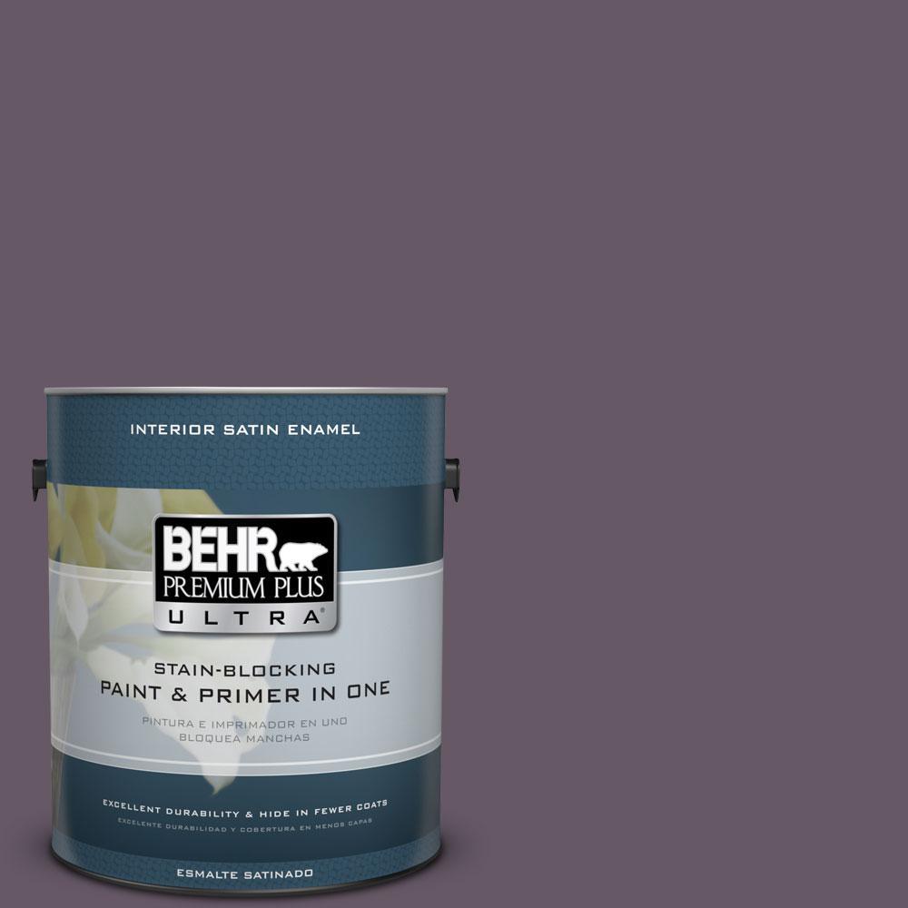 BEHR Premium Plus Ultra 1-Gal. #PPU17-5 Preservation Plum Satin Enamel Interior Paint