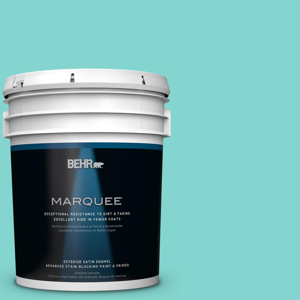 BEHR MARQUEE 5-gal. #HDC-MD-11 Exclusive Ivory Satin Enamel Exterior Paint