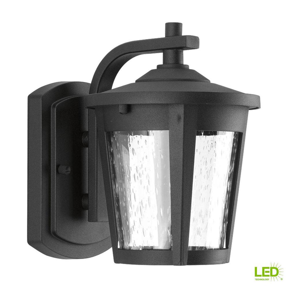 Progress Lighting East Haven Collection 1 Light 7 9 In Outdoor Black Led Wall Lantern