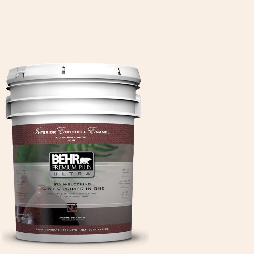 BEHR Premium Plus Ultra 5-gal. #PWN-14 Chenille White Eggshell Enamel Interior Paint
