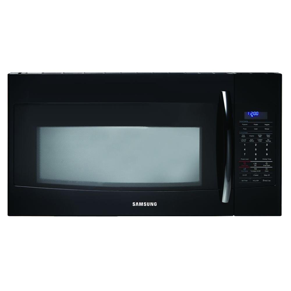 Samsung 1.9 cu. ft. Over the Range Microwave in Black with Sensor Cooking-DISCONTINUED