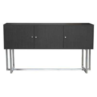 Prague Gray Buffet with Stainless Steel Finish