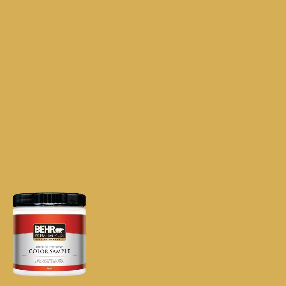 BEHR Premium Plus 8 oz. #370D-6 Golden Cricket Interior/Exterior Paint Sample