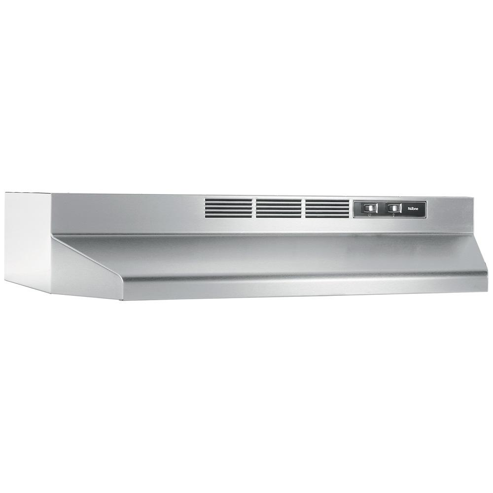 Broan-NuTone RL6200 Series 30 in. Ductless Under Cabinet Range Hood with Light in Stainless Steel