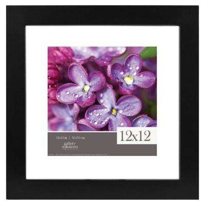 Float 8 in. x 8 in. Black Picture Frame