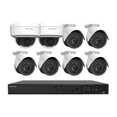 8-Channel Full HD IP Indoor/Outdoor Surveillance 2TB NVR System (6) 1080P Bullet and (2) Dome Cameras Free Apps