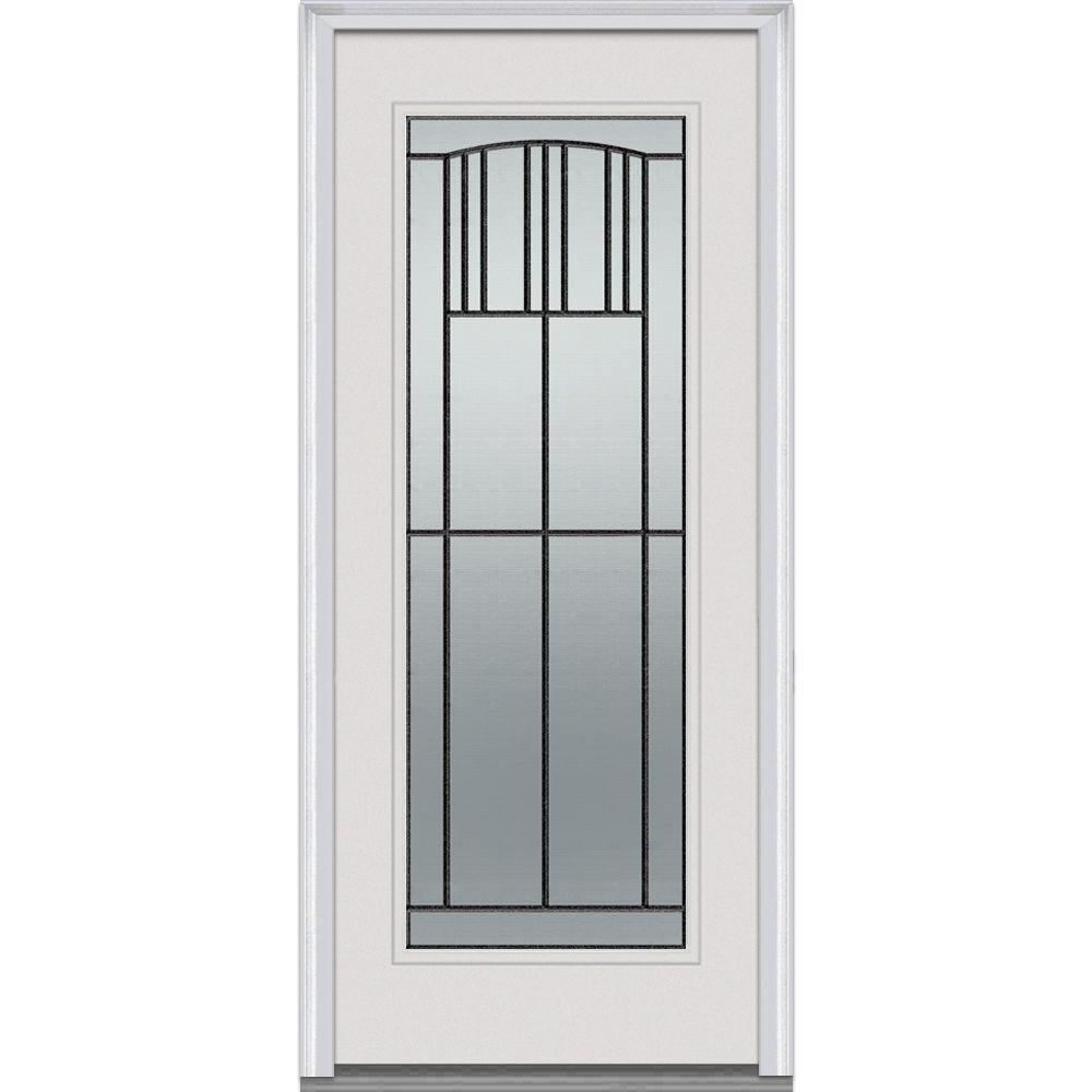 Good MMI Door 34 In. X 80 In. Madison Right Hand Full Lite Classic Primed Steel Prehung  Front Door Z001684R   The Home Depot