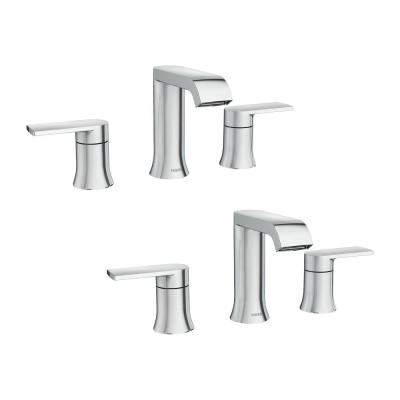 Genta 8 in. Widespread 2-Handle Bathroom Faucet in Chrome (2-Pack)