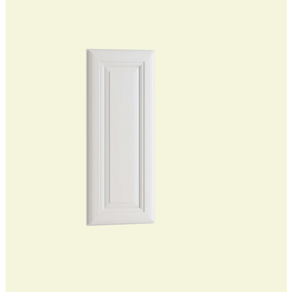 Home Decorators Collection 12x30x.75 in. Brookfield Matching Wall End Panel in Pacific White