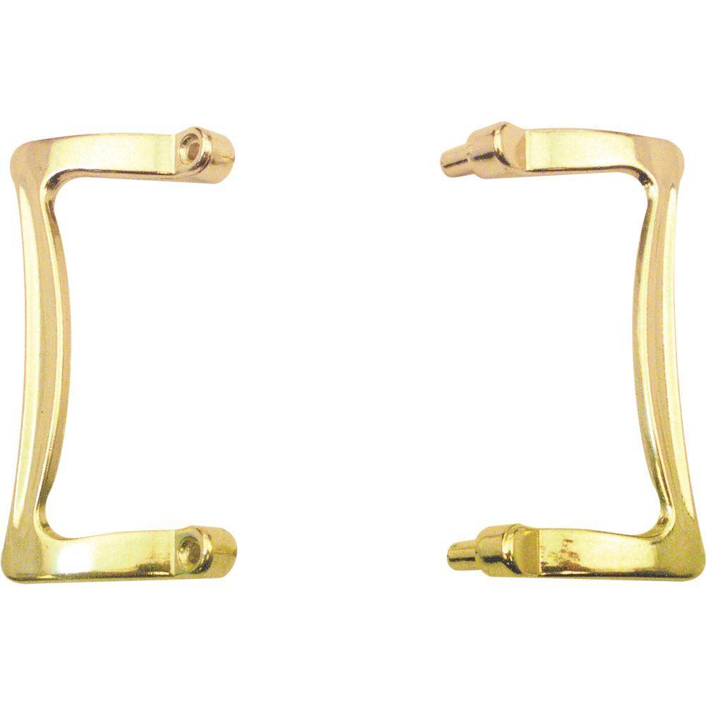 Prime Line Brass Shower Door Handle Set M 6030 The Home