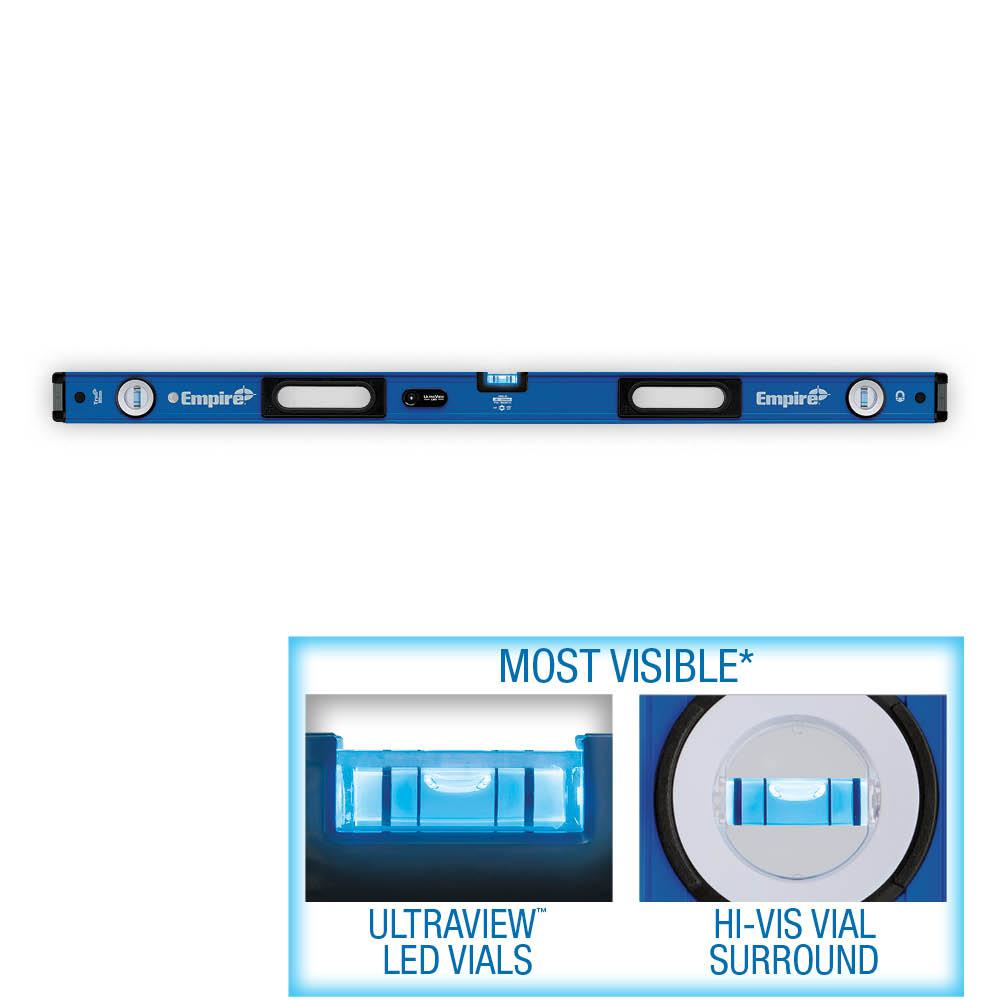 Empire 48 in. UltraView LED Magnetic Box Level