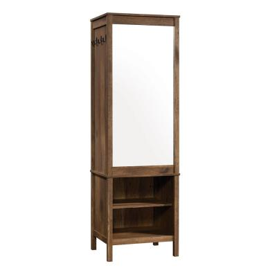 New Grange 72.165 in.H Vintage Oak Mirrored Armoire