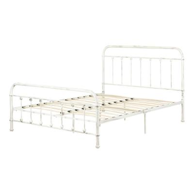 Queen Metal White Beds Bedroom Furniture The Home