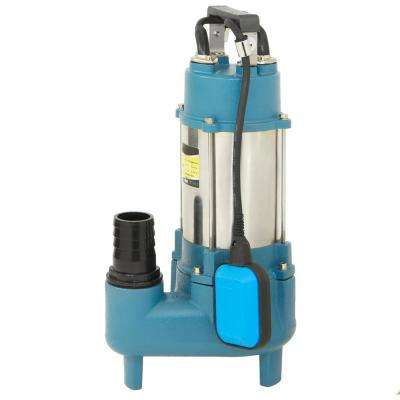1.5 HP Stainless Steel Submersible Effluent Sewage Pump with Tethered Switch 220-Volt