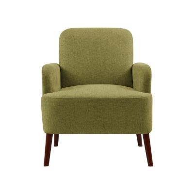 Lambert Apple Green Tweed Fabric Rounded Arm Chair