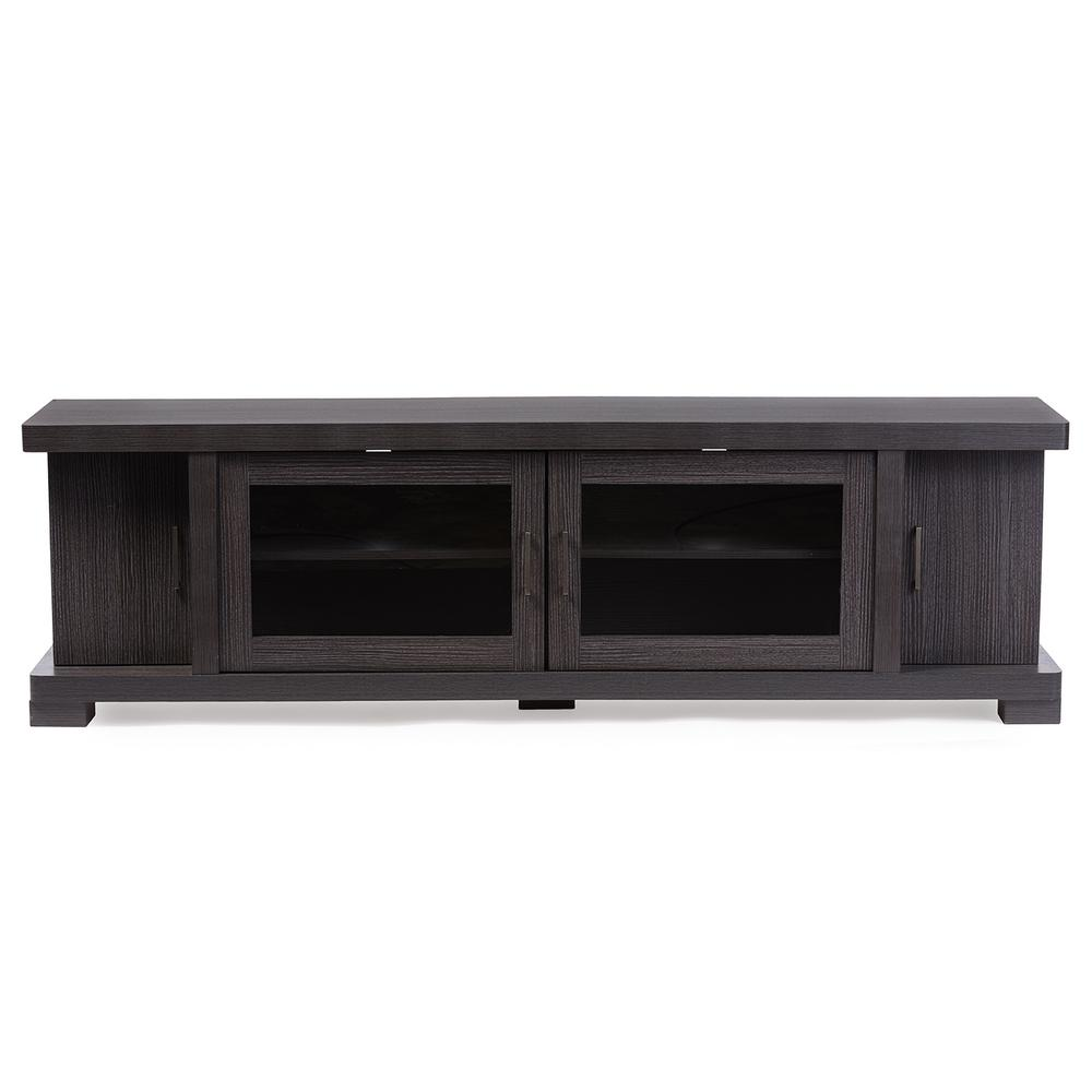 Viveka Dark Brown Wood Entertainment Center