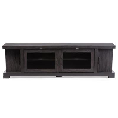 Viveka 70 in. Dark Brown Wood TV Stand Fits TVs Up to 78 in. with Cable Management