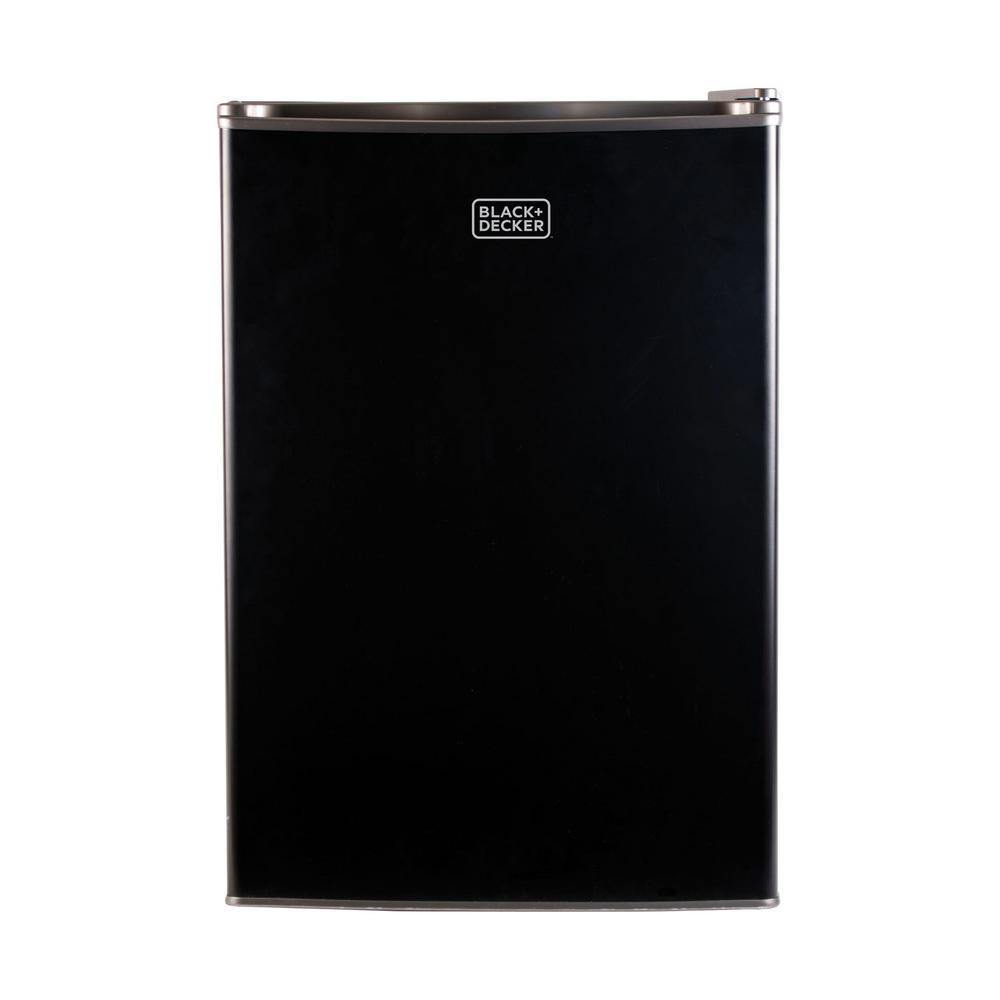 BLACK+DECKER 2.5 cu. ft. Mini Refrigerator in Black