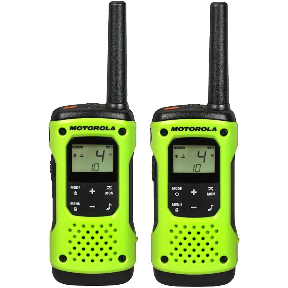 Motorola T600 Rechargeable Waterproof 2-Way Radio, Green ...