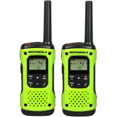Talkabout T600 Rechargeable Waterproof 2-Way Radio, Green (2-Pack)