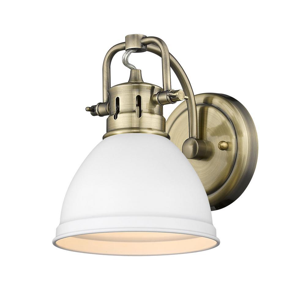 Duncan AB 4.875 in. 1-Light Aged Brass Vanity Light
