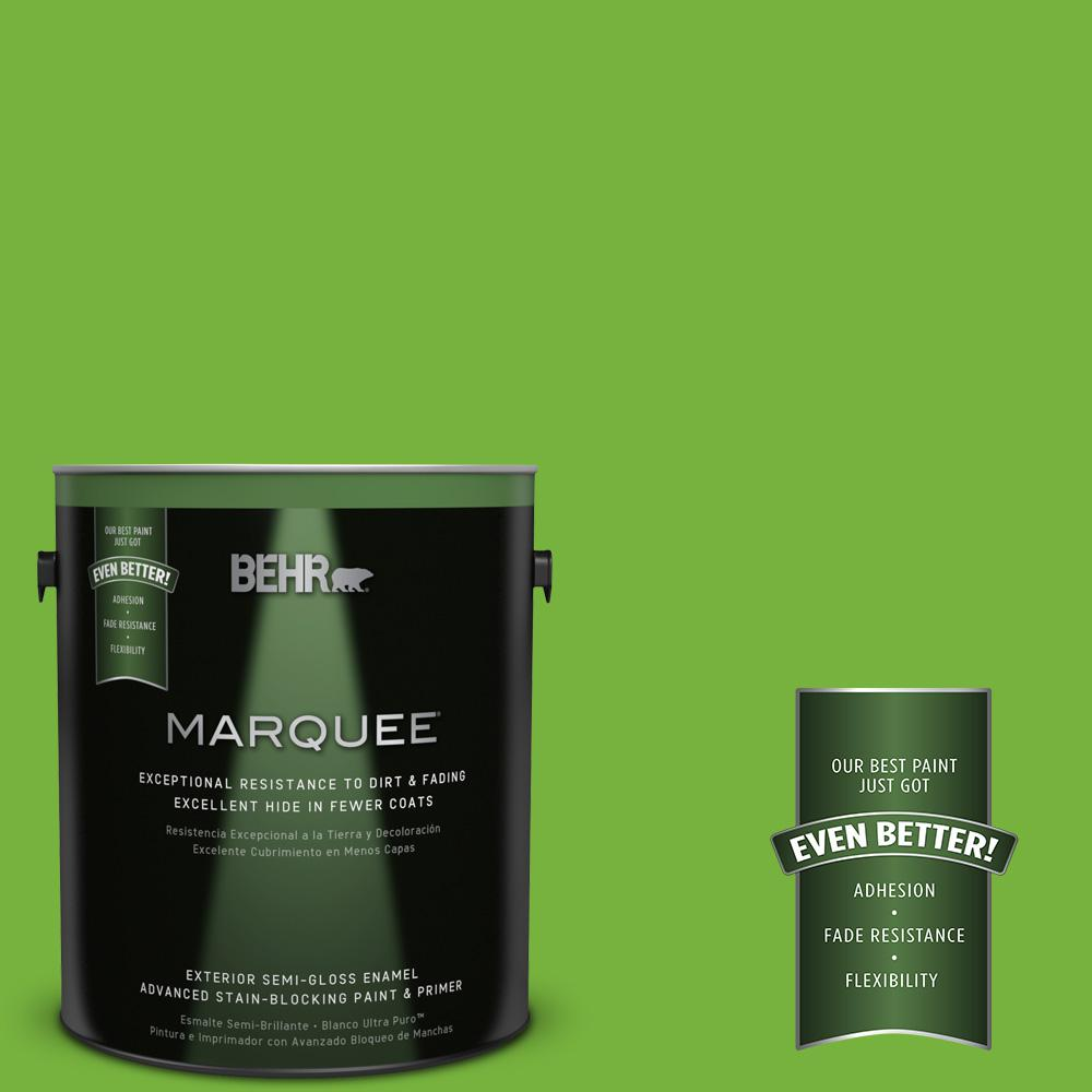 BEHR MARQUEE 1-gal. #S-G-430 Sparkling Apple Semi-Gloss Enamel Exterior Paint