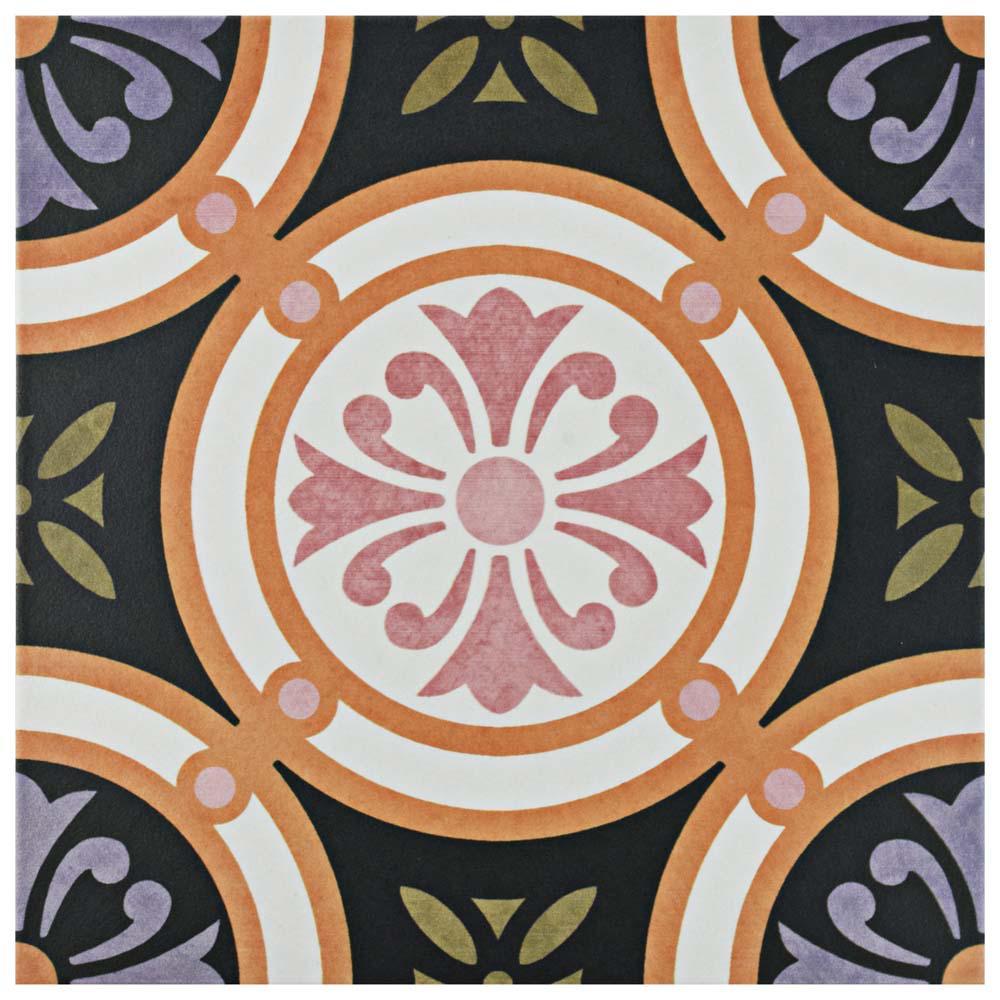 Egeo Rodas Encaustic 9-3/4 in. x 9-3/4 in. Porcelain Floor and Wall Tile (10.76 sq. ft. / case)