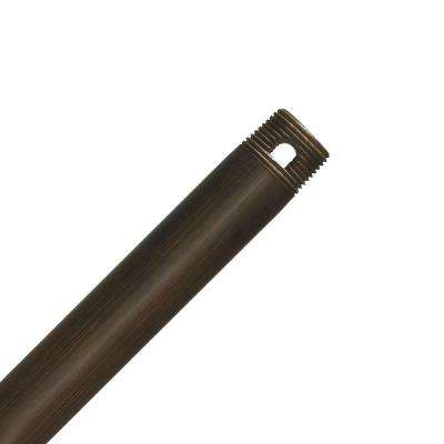 Perma Lock 72 in. Brushed Cocoa Bronze Extension Downrod for 15 ft. ceilings