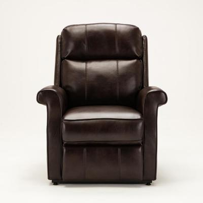 Lehman Brown Semi Leather Traditional Lift Chair