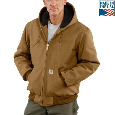 0e22fa1eba Men S Large Tall Brown Cotton Quilted Flannel Lined Duck Active Jacket