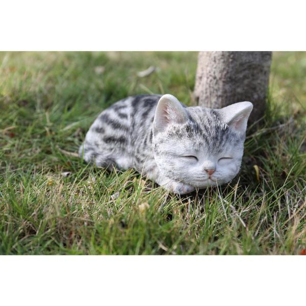 Hi Line Gift Grey Tabby Kitten Sleeping 87699 C The Home Depot