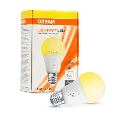 SMART+ ZigBee 60W Equivalent Soft White Dimmable A19 LED Light Bulb