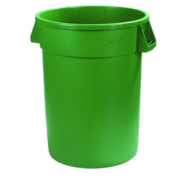 Bronco 44 Gal. Green Round Trash Can (3-Pack)
