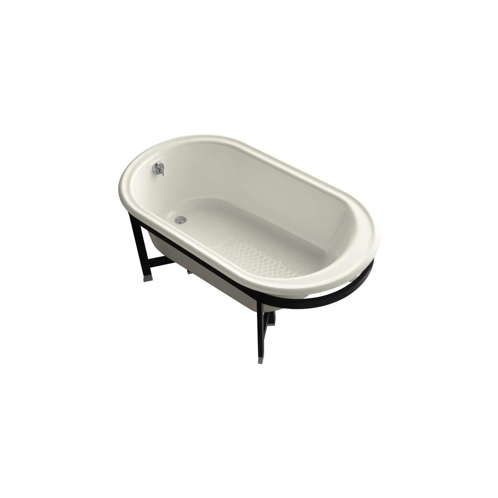 KOHLER Iron Works Tellieur 5.5 ft. Bathtub in Biscuit-DISCONTINUED