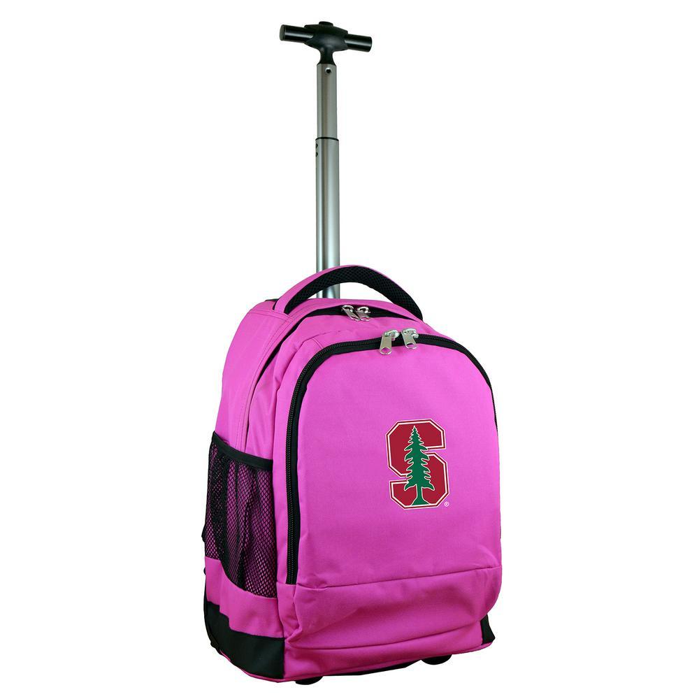Denco NCAA Stanford 19 in. Pink Wheeled Premium Backpack