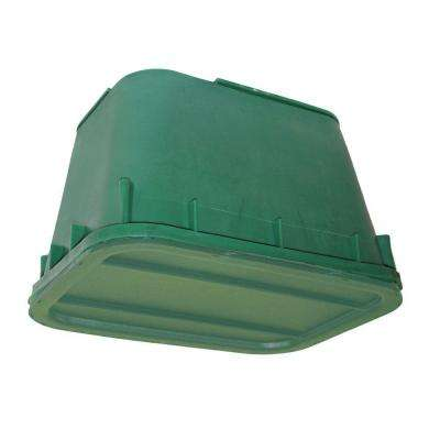 12 in. W x 17 in. D x 12 in. H Rectangular DRY Box in Black Body Green Lid