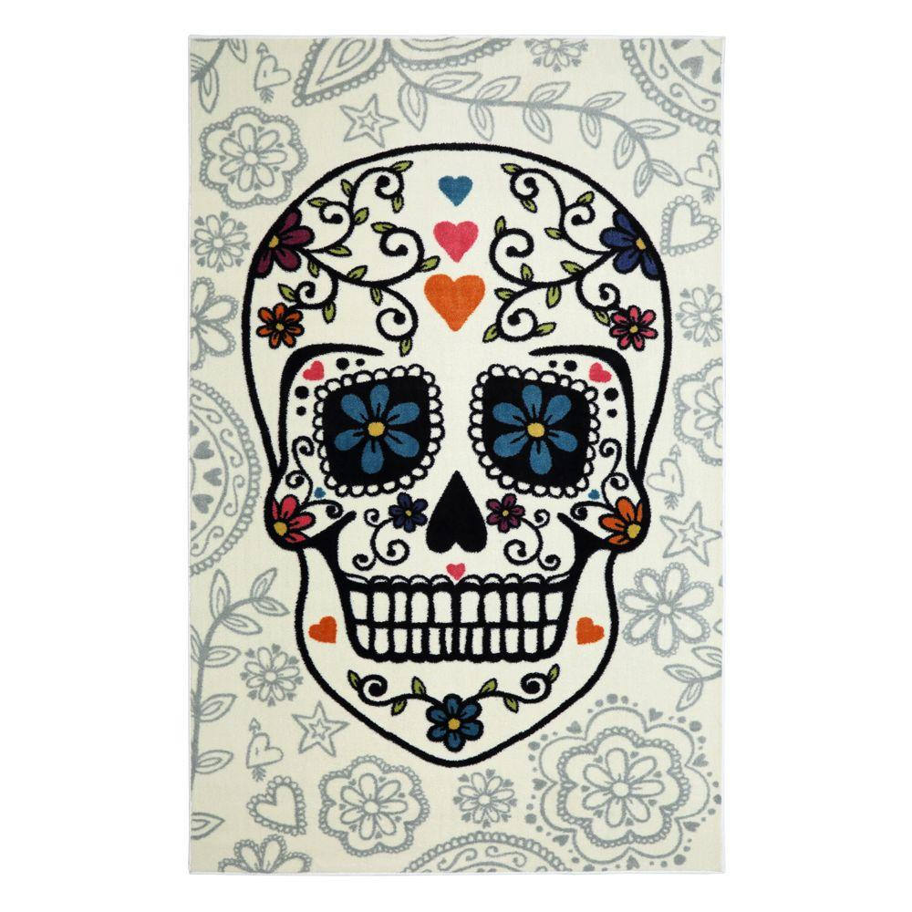 Mohawk Home Sugar Skull Multi 5 Ft X 8 Indoor Area Rug